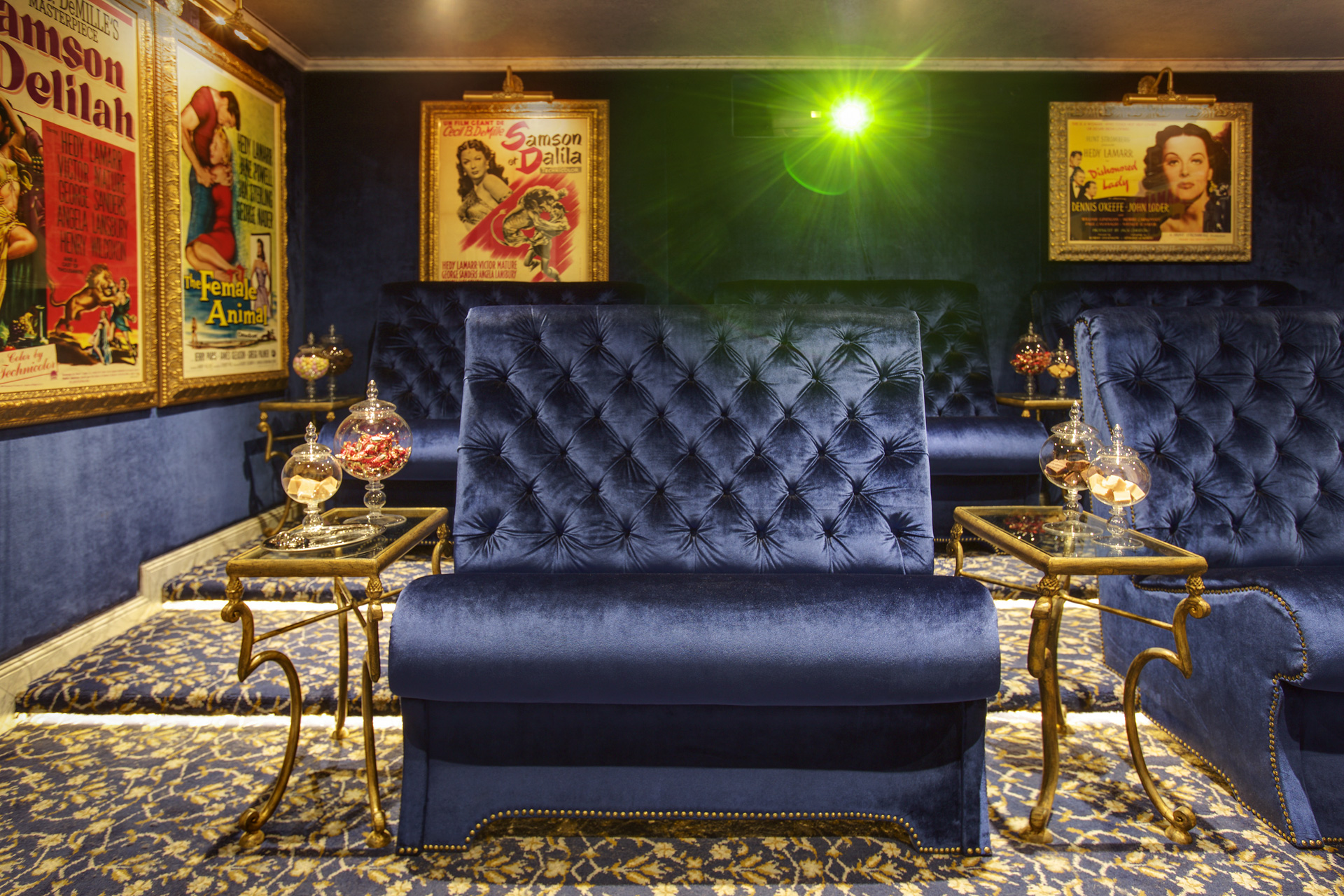 This image: Like her sister super ships, Antoinette and Catherine, the SS Maria Theresa features the plush Lipizzan Theatre, where guests sink into deep velvet banquets for screenings of new releases.