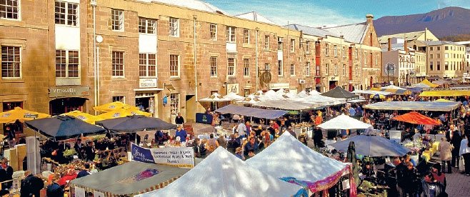 Salamanca Market, a Hobart institution, takes place every Saturday.