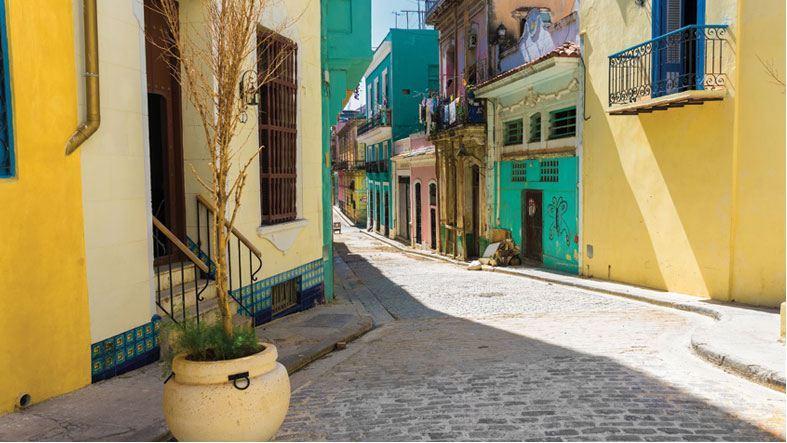 Buildings in Old Town, Havana, Cuba.