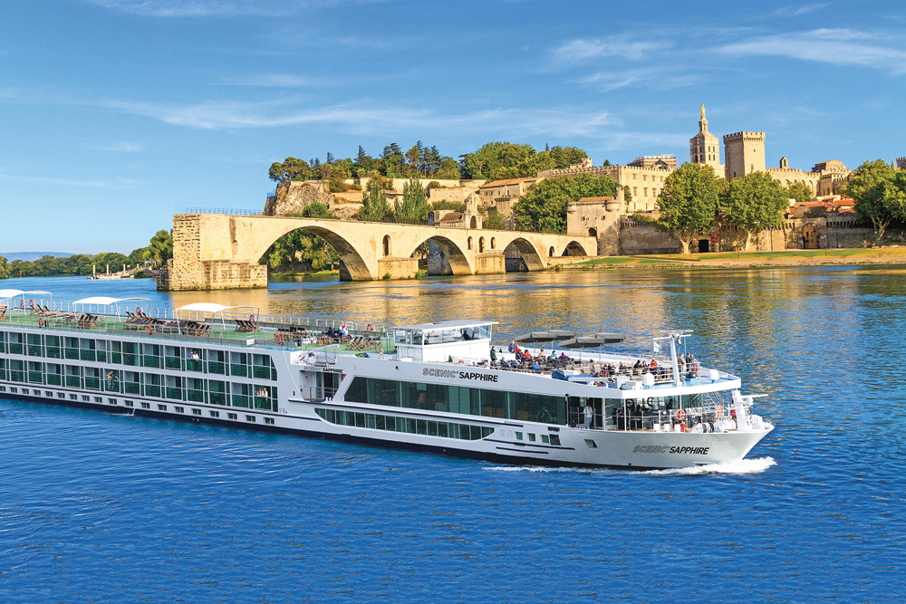 Scenic Sapphire in Avignon, France. Image courtesy of Scenic.