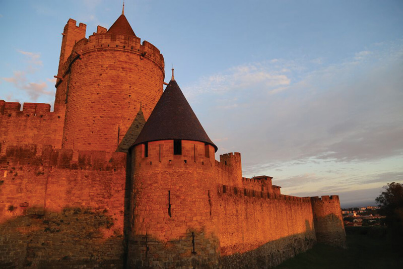 Medieval citadel, Carcassonne, in  Languedoc, France. Image courtesy of Ride & Seek.