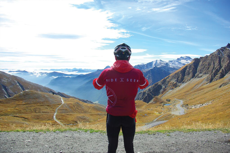 Col Agnel, the mountain pass in the Cottian Alps on the French and Italian boarder. Image courtesty of Ride & Seek.