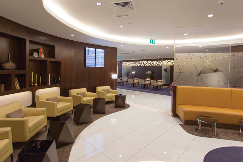 Etihad Airways newly refurbished First and Business Class Lounge at Abu Dhabi Airport's Terminal 1. Image courtesy of Etihad Airways.