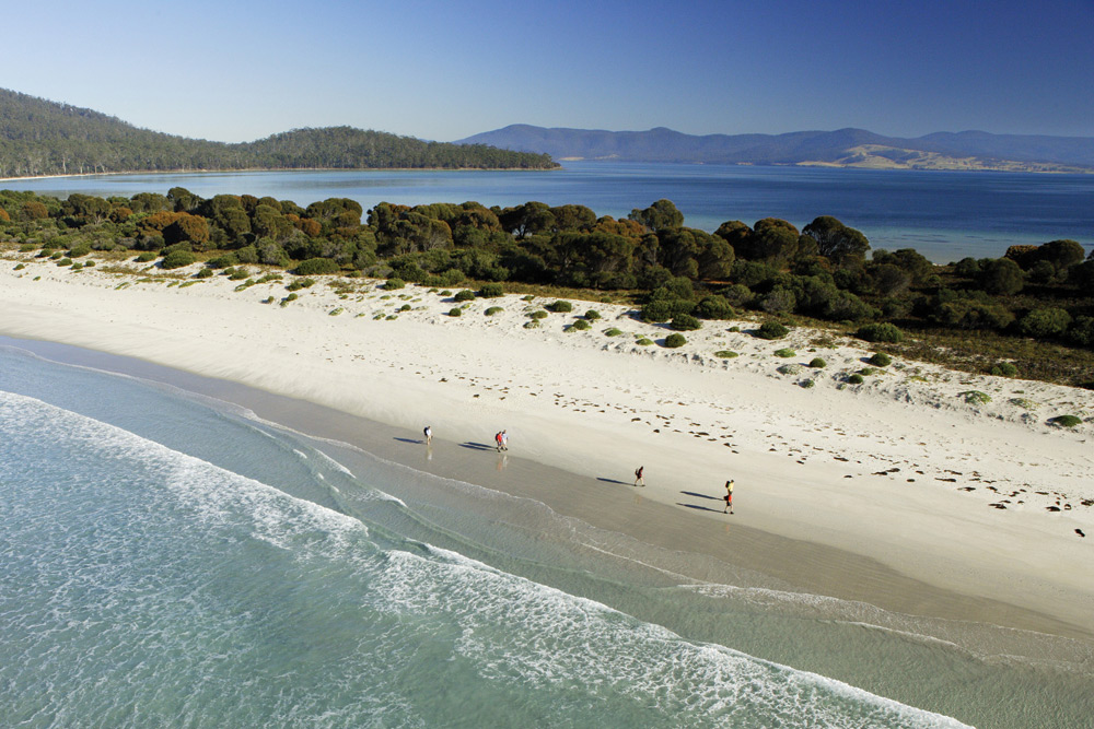 Reidle Beach, Maria Island. Image courtesy of The Maria Island Walk.