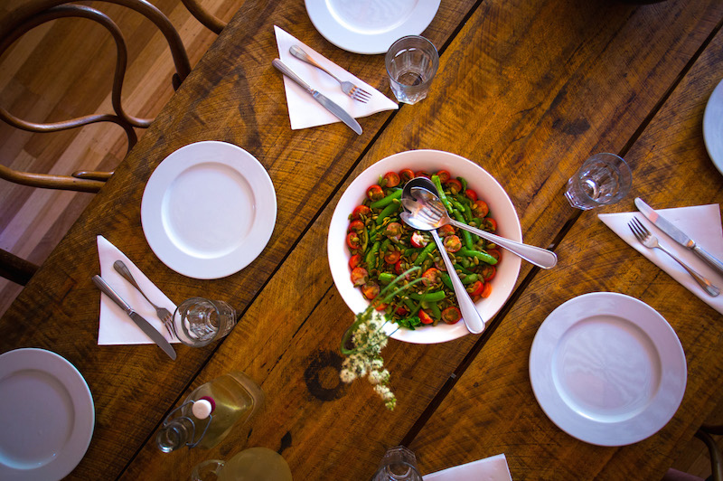 Typical table setting on the Freycinet Experience Walk. Image courtesy of the Great Walks of Australia