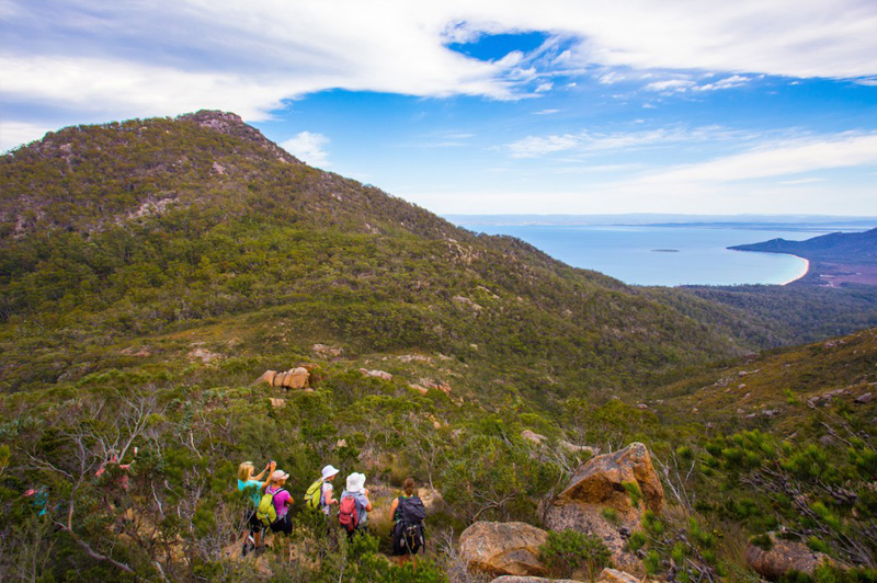 Travelling light, needing only to carry your camera and a small day-pack. Image courtesy of the Great Walks of Australia