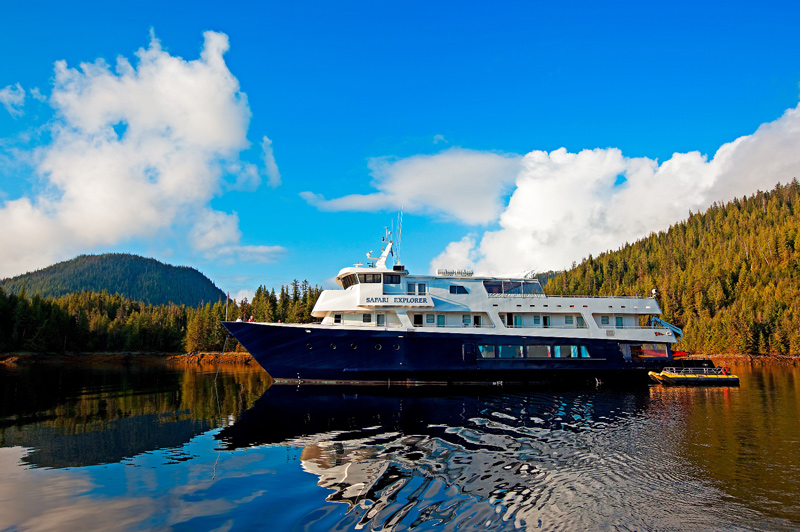 The Safari Explorer in Alaskan waters. Image:  Un-Cruise Adventures