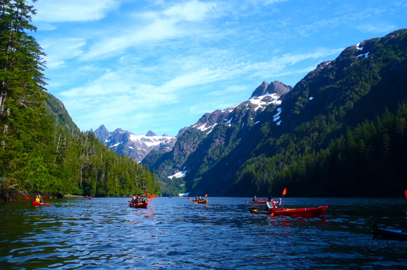 Kayaking in a channel. Image: Un-Cruise Adventures