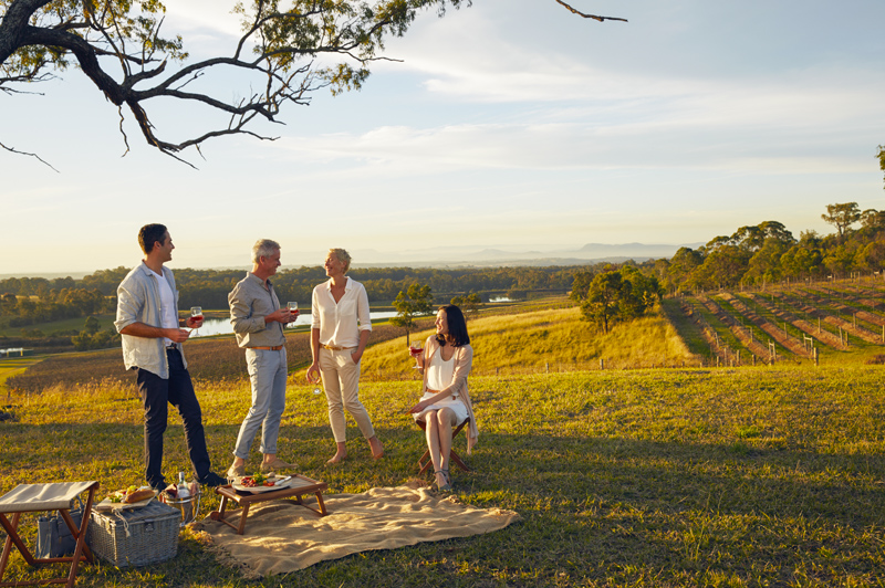 Picnic Escape at Audrey Wilkinson Vineyard, Hunter Valley. Image courtesy of Ultimate Winery Experiences Australia.