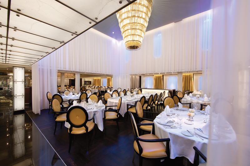 Inside The Restaurant onboard Seabourn
