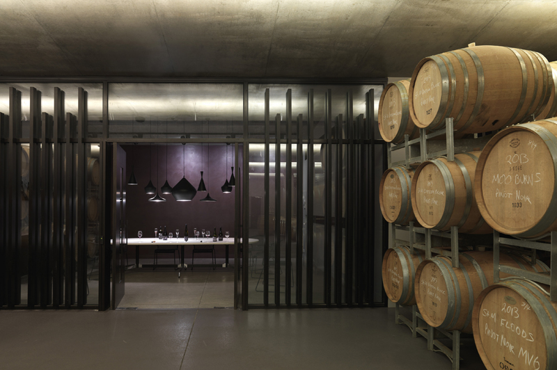 Visit the underground barrel room on Moorilla