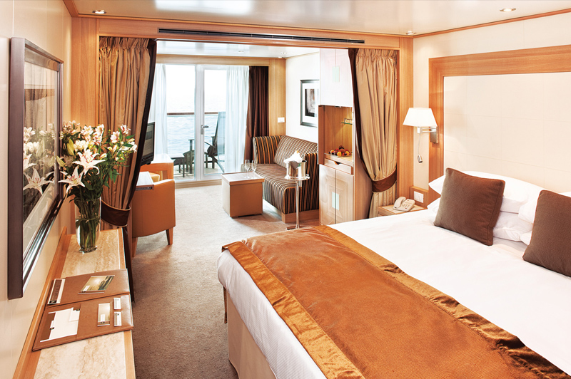 Your home away from home is a superbly appointed luxury Veranda Suite. Image: Seabourn