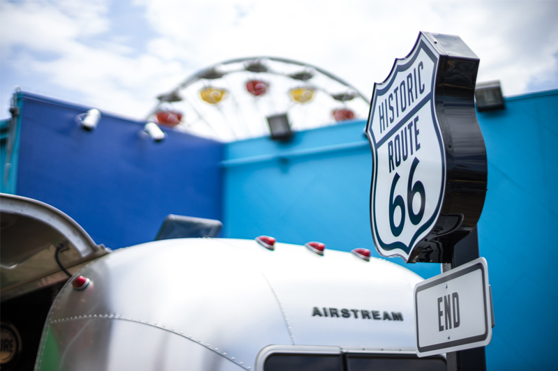 Santa Monica Pier is home to the real last stop of Route 66. Image: Brand USA