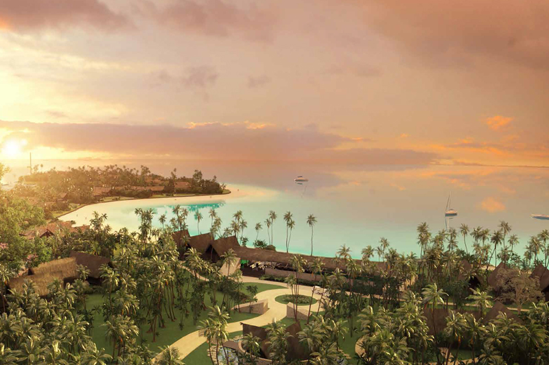 Render of the Island Grace and wider Vunabaka development. Image: Vunabaka Bay Fiji Limited
