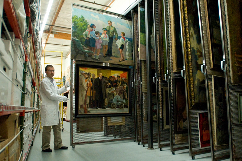 Painting Collection at The Wende Museum. Image courtesy of The Wende Museum.