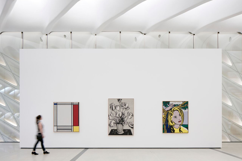 Roy Lichtenstein Installation © Bruce Damonte, courtesy of The Broad and Diller Scofidio + Renfro