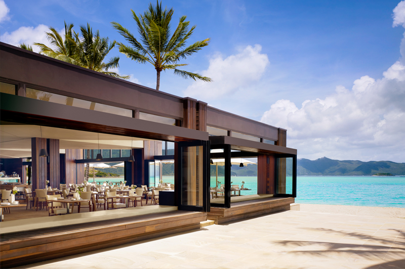Pacific restaurant at One&Only Hayman Island. Image courtesy of Kerzner International.