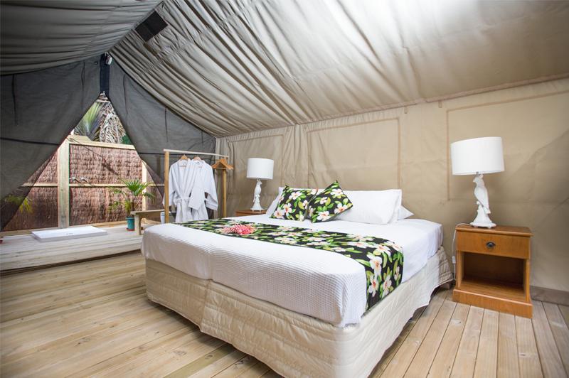 Staying inside Ikurangi Eco Retreat's exclusive Ariki Safari Tent is hardly anyone's idea of roughing it. Image courtesty of Ikurangi Eco Retreat.