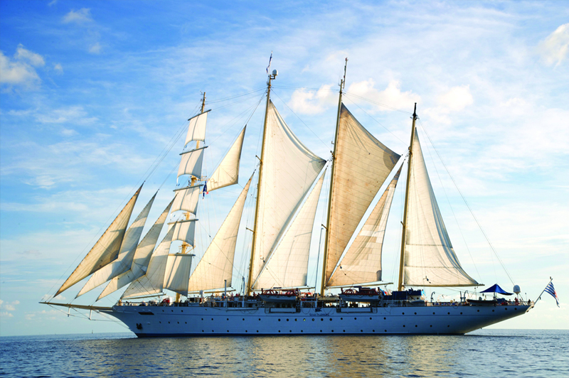 Our four-masted tall ship, Star Flyer. Image courtesy of Star Clippers.