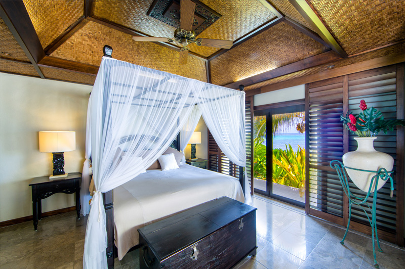 A glimpse inside the accommodation at Te Manava Luxury Villas & Spa. Image: Te Manava Luxury Villas & Spa