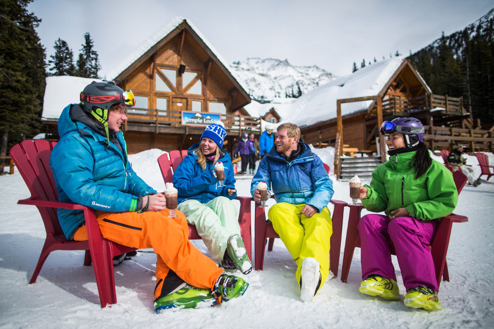 Warm up with a drink on the slopes (Image: Banff Lake Louise Tourism / Paul Zizka Photography)