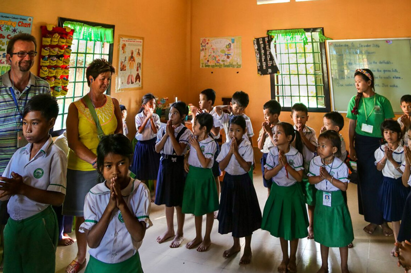 Uniworld supports the Future of Khmer Children Organization, a free school for underprivileged children in Siem Reap. Image: Kim Lambert