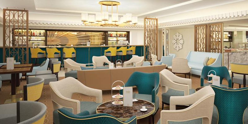 The new Carinthia Lounge named after an ex-Cunard ship, Carinthia (1956–68). Image: Cunard Line