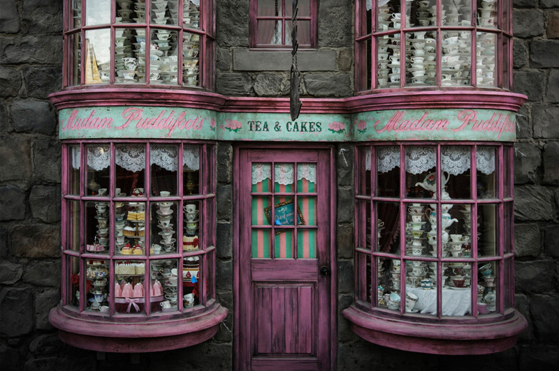 Madam Puddifoots at the Wizarding World of Harry Potter. Image: Universal Studios