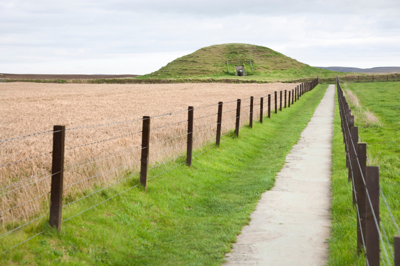 The prehistoric chambered cairn of Maeshowe in Orkney, Scotland