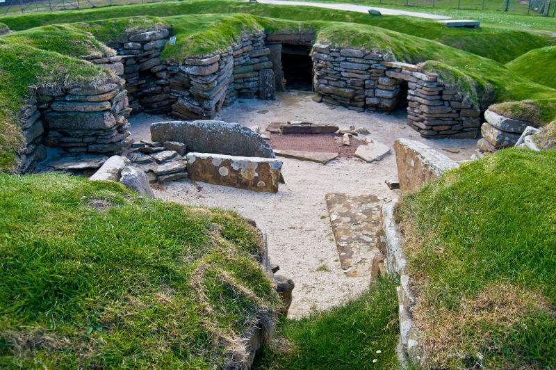 Neolithic site Skara Brae in Orkney, Scotland