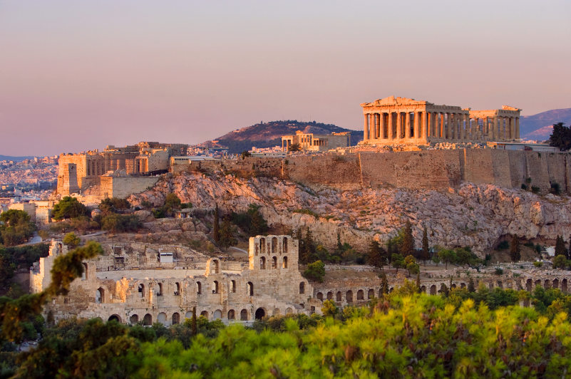 The Acropolis dominates the Athens skyline. Picture: Getty Images