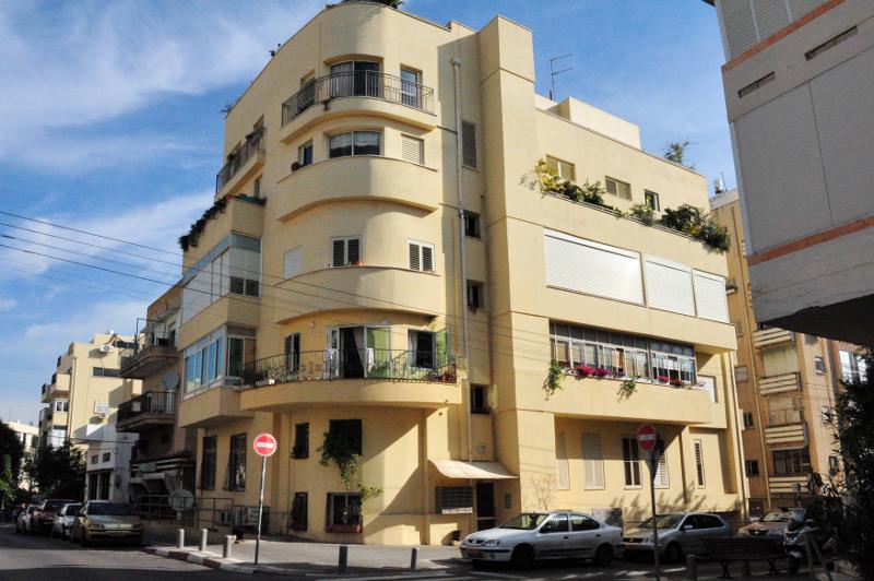 A Bauhaus building in Tel Aviv's White City.
