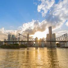 Brisbane City skyline sunset
