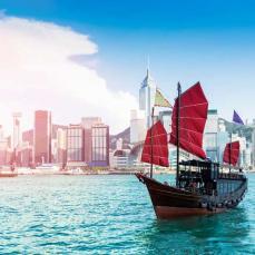 Colourful Hong Kong Skyline
