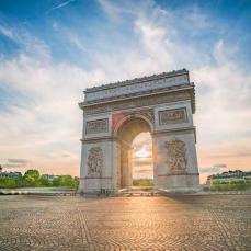Eiffel tower in colours, Paris