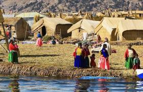 Uros floating islands, South America