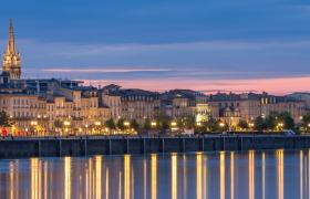 Bordeaux and Garonne River