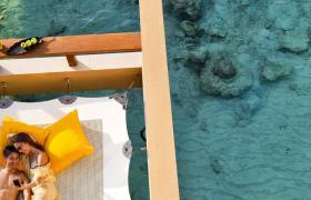 Maldives Overwater bungalow hammock