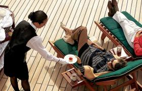 feature Queen Mary afternoon tea on deck White Star Service lifestyle leisure Deck Lifestyle