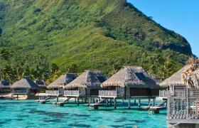 tropics sea bungalows aitutaki wallpaper