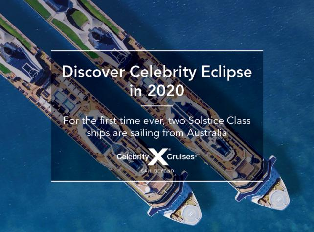 Celebrity Eclipse Coming To Australia Travel Associates